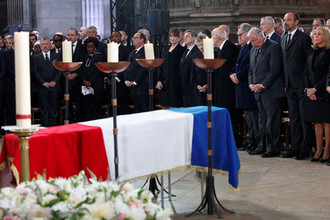 Во время церемонии прощания с бывшим президентом Франции (1995-2007) Жаком Шираком, 30 сентября 2019 года