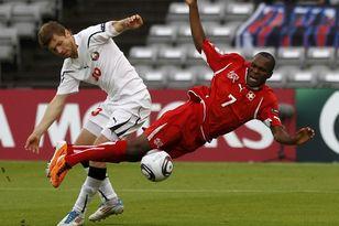 За этот фол был назначен пенальти в ворота сборной Белоруссии
