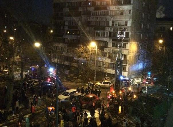 На месте взрыва бытового газа в доме на 2-й Кабельной улице в Лефортово
