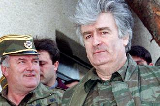 Радован Караджич (справа), 1995 год