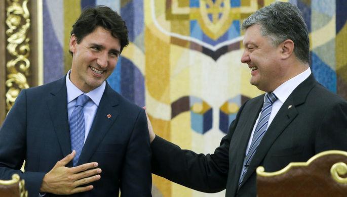 Президент Украины Петр Порошенко и премьер-министр Канады Джастин Трюдо, 2016 год