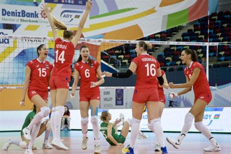 Сборная России по волейболу напрямую вышла в 1/4 финала чемпионата Европы