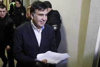 Михаил Саакашвили в здании суда в Киеве, 11 декабря 2017 года