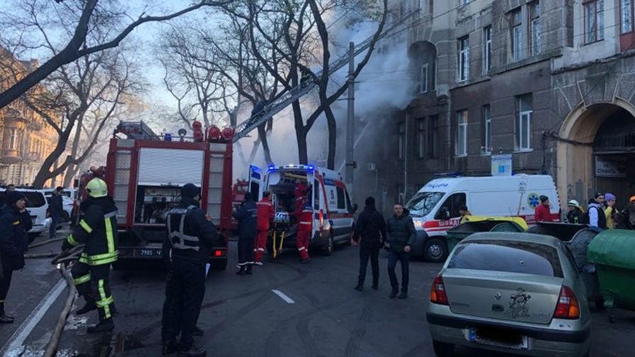 Число погибших при пожаре в одесском колледже увеличилось до четырех