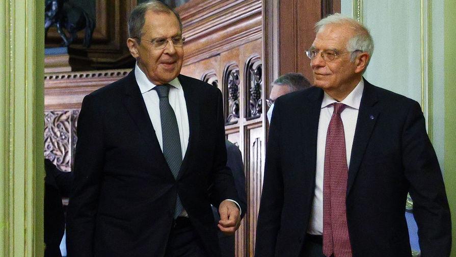 Лавров Рё Боррель обсудили отношения междуРРѕСЃСЃРёРµР№ Рё Евросоюзом