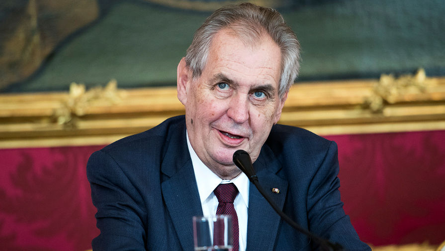 Президент Чехии Милош Земан, апрель 2019 года