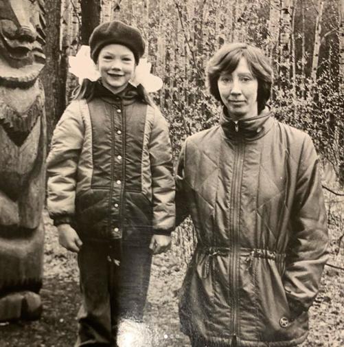 Катя Гамова с мамой