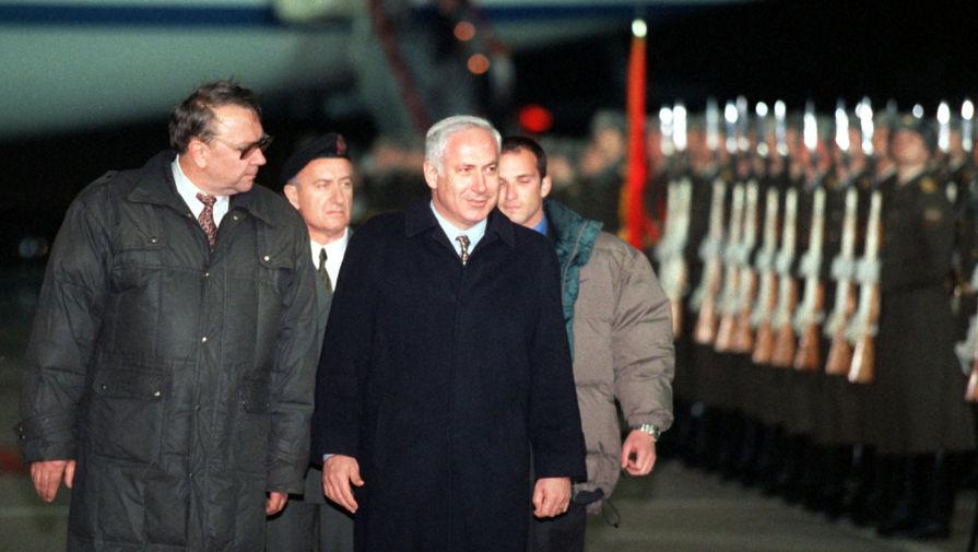 Премьер-миинистр Израиля Биньямин Нетаньяху и вице-премьер РФ Владимир Фортов, 1997 год