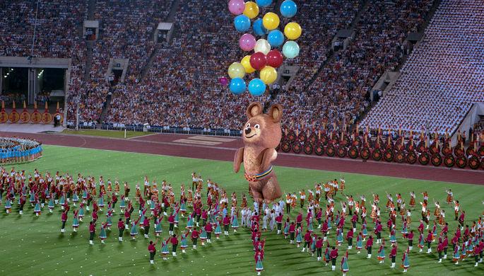 Торжественная церемония закрытия летних Олимпийских игр в Москве, 3 августа 1980 года