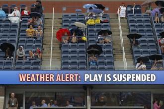 Дождь в Нью-Йорке изрядно сократил вторничную программу US Open