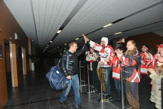Болельщики встречают игроков «Донбасса»