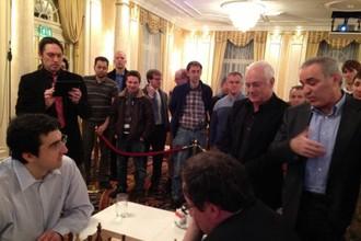 Супергроссмейстеры за шахматной доской