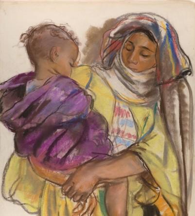 З.Е. Серебрякова. Марокканка с ребенком на руках. Марракеш. 1932
