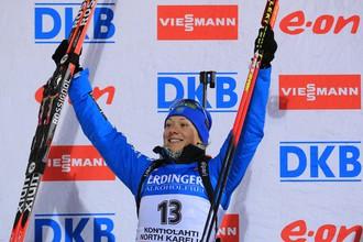 Ольга Зайцева заняла третье место в гонке преследования в Контиолахти