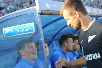 Андрей Аршавин и Сергей Семак (справа)