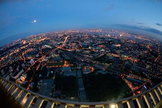 Вид на Москву со смотровой площадки Останкинской телебашни