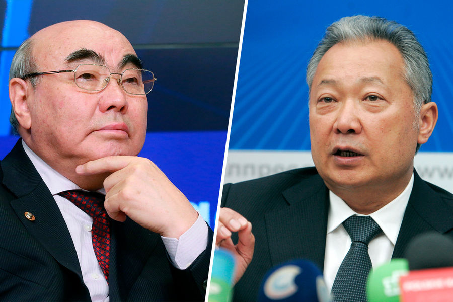 Экс-президенты Киргизии Аскар Акаев и Курманбек Бакиев