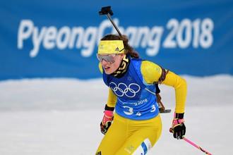 Шведская биатлонистка Ханна Эберг