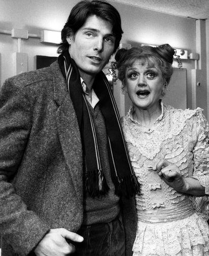 Анджела Лэнсбери и Кристофер Рив в Нью-Йорке, 1979 год
