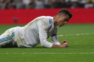 Нападающий мадридского «Реала» Криштиану Роналду сокрушается по поводу упущенного момента в матче против «Бетиса»