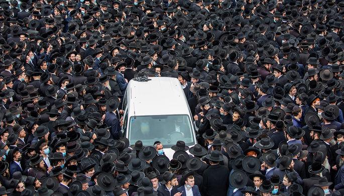 Похороны раввина Мешулама Давида Соловейчика в Иерусалиме, 31 января 2021 года