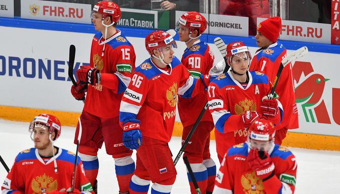 Сборная России после матча с Чехией на Кубке Первого канала