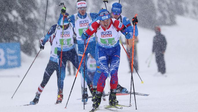 Российские биатлонисты Эдуард Латыпов, Александр Логинов, Матвей Елисеев и Саид Каримулла Халили.