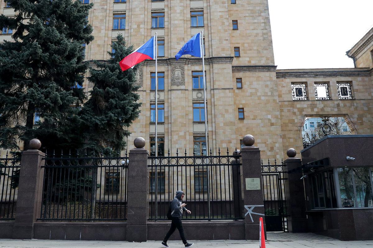Здание посольства Чехии в России. Москва, 18 апреля 2021 года