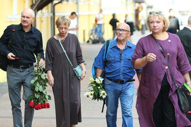Перед церемонией прощания с писателем Эдуардом Успенским в Москве, 18 августа 2018 года