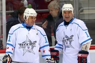 Президент КХЛ Александр Медведев во время «Матча легенд» в Челябинске