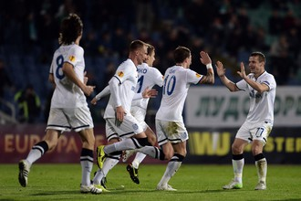 «Черноморец» празднует волевую победу над загребским «Динамо»