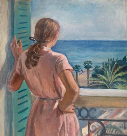 З.Е. Серебрякова. Девушка на балконе. 1931