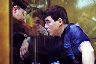Никита Тихонов в суде