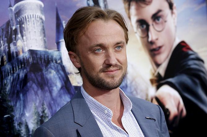 Том Фелтон на открытии парка «Волшебный мир Гарри Поттера»