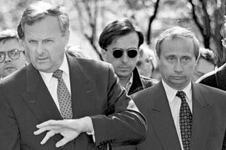 Мэр Санкт-Петербурга Анатолий Собчак и его заместитель Владимир Путин, 1994 год