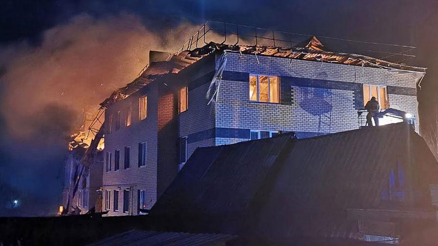 Пожар в жилом доме в селе Маргуша, где произошел взрыв газа, 19 апреля 2021 года
