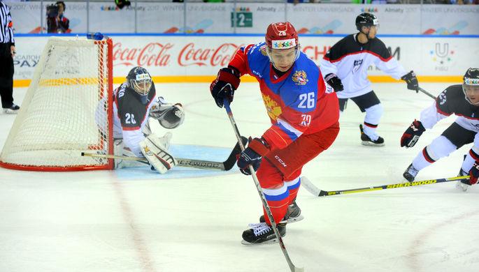 Сборная России по хоккею пробилась в финал Универсиады, где сыграет с Канадой
