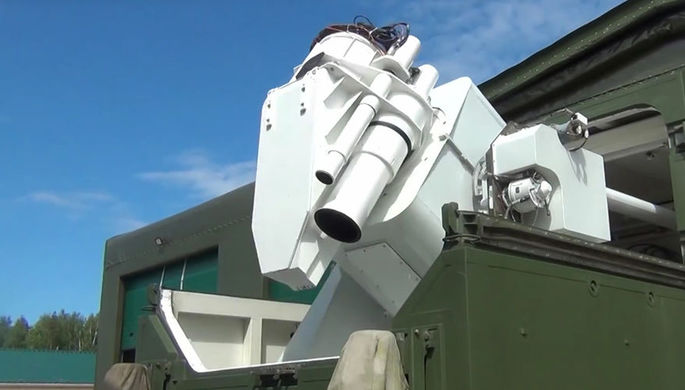 Лазерный комплекс «Пересвет», кадр из видео Минобороны России