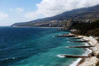 Набережная Гурзуфа в Крыму