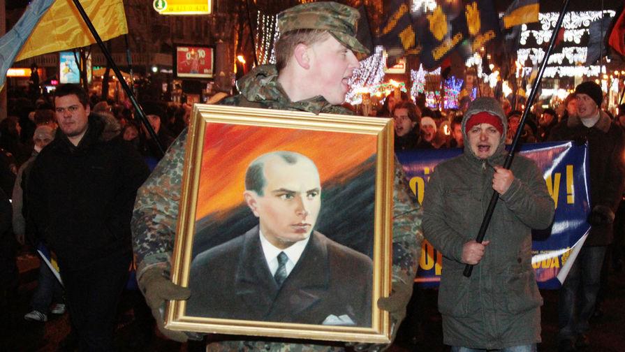 Факельное шествие в Киеве в день рождения Степана Бандеры, 2011 год
