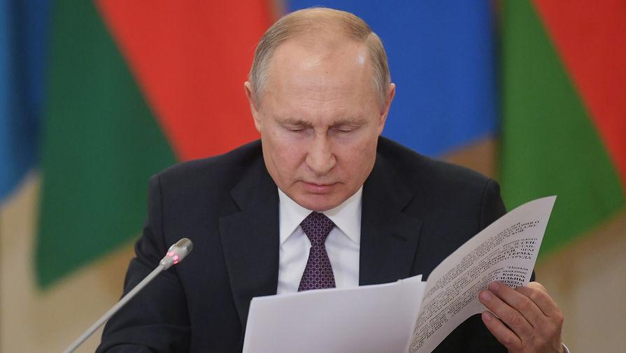 Президент России Владимир Путин на неформальной встрече лидеров государств СНГ в Санкт-Петербурге, 20 декабря 2019 года