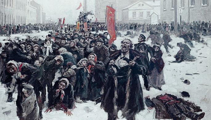 Репродукция картины «9 января 1905 года»