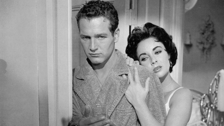Элизабет Тейлор и Пол Ньюман в фильме «Кошка на раскаленной крыше» (1958)