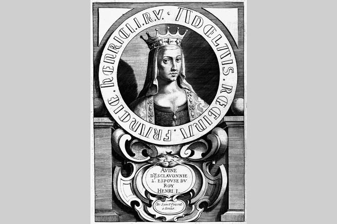 Как могла выглядеть Анна Ярославна — гравюра из книги историка Франсуа Эд де Мезере, 1643 год