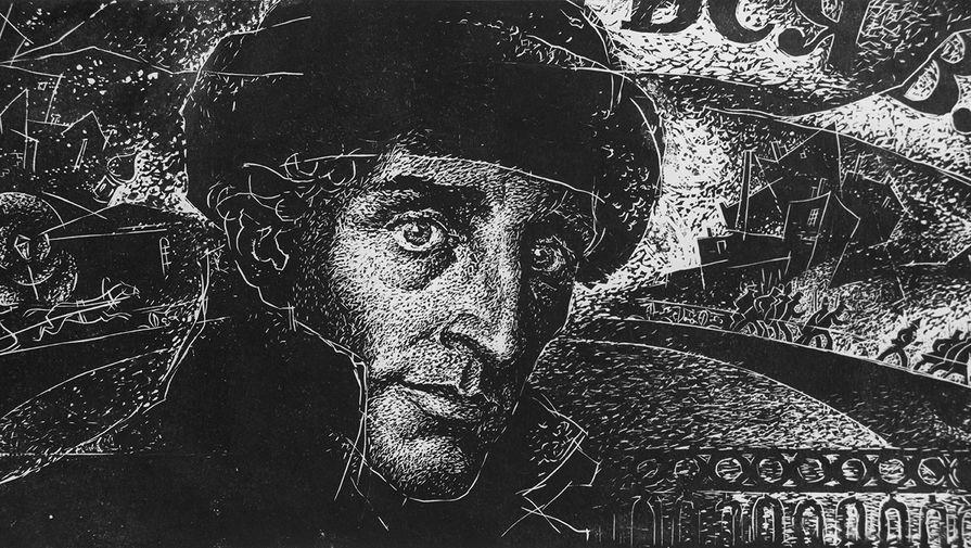 Репродукция рисунка художника Б. Старичкова «Александр Блок»