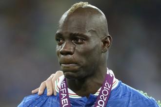 После проигранного финала Евро Балотелли не сдержал слез
