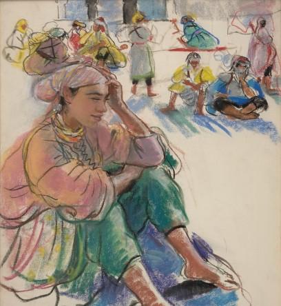 З.Е. Серебрякова. Сидящая марокканка. 1928