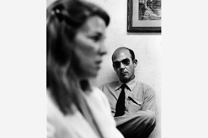 Хантер Томпсон во время слушаний о разводе с Роксанн Пулитцер во Флориде, 1982 год