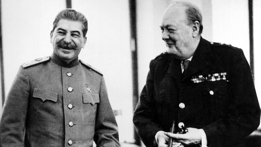 Иосиф Сталин и Уинстон Черчилль, 1945 год