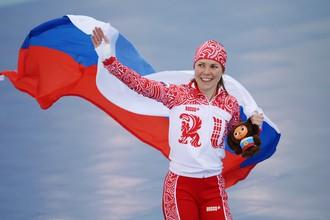 Росийская конькобежка Ольга Граф